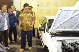Menteri Perindustrian Meninjau Indonesia Modification Expo 2018